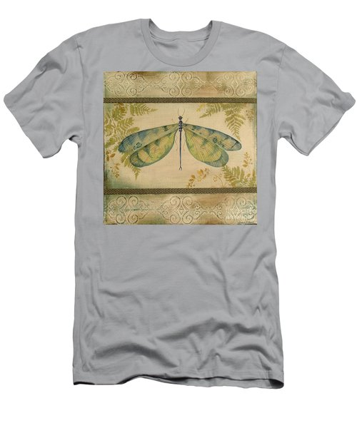 Dragonfly Among The Ferns-1 Men's T-Shirt (Slim Fit) by Jean Plout
