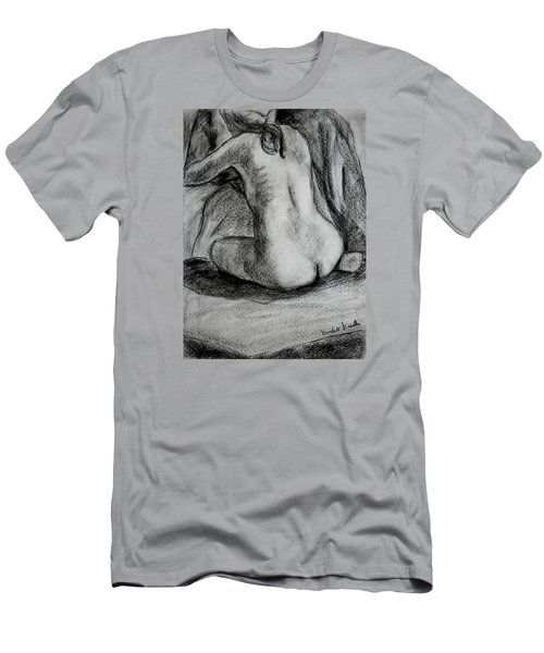 Men's T-Shirt (Athletic Fit) featuring the drawing Drapery Pull by Kendall Kessler