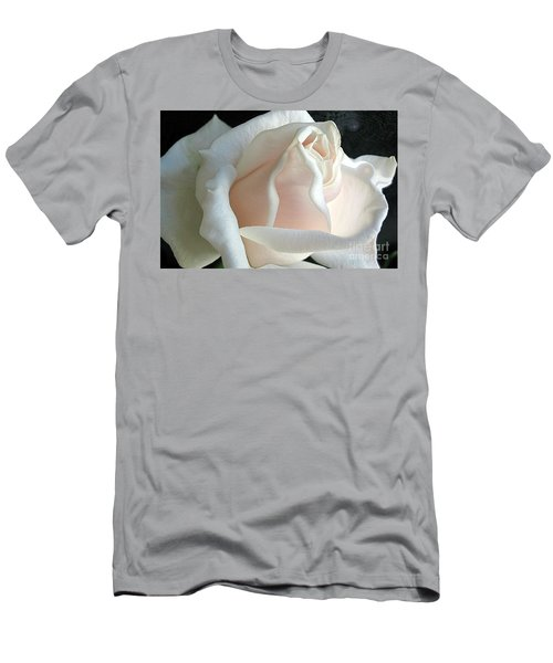 Dreamy White Rose Men's T-Shirt (Athletic Fit)