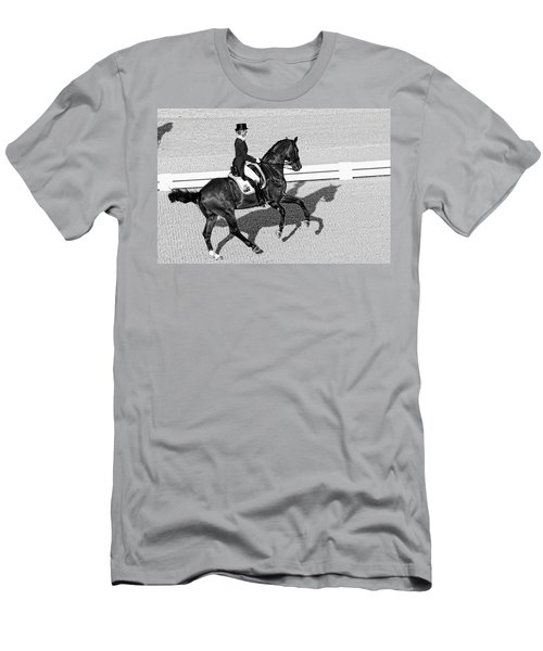 Dressage Une Noir Men's T-Shirt (Athletic Fit)