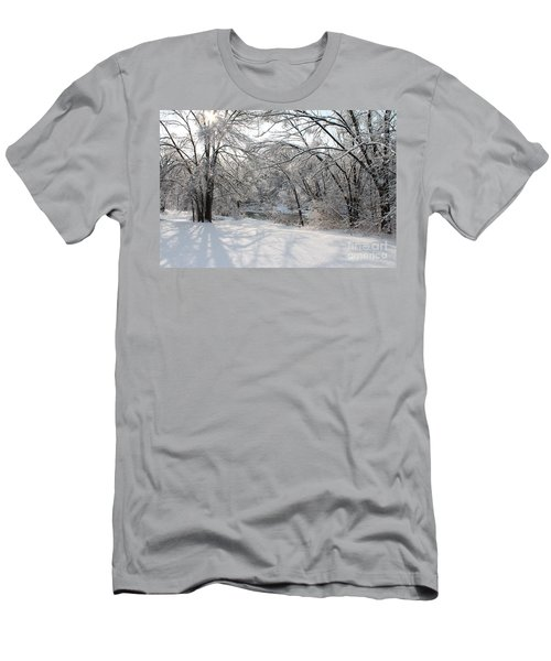 Men's T-Shirt (Slim Fit) featuring the photograph Dressed In Snow by Nina Silver