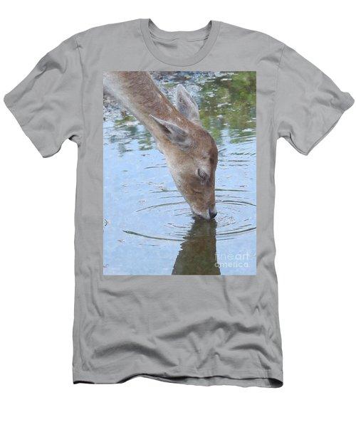 Drinking Doe Men's T-Shirt (Athletic Fit)