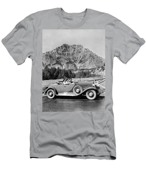 Drive In The Canadian Rockies Men's T-Shirt (Athletic Fit)