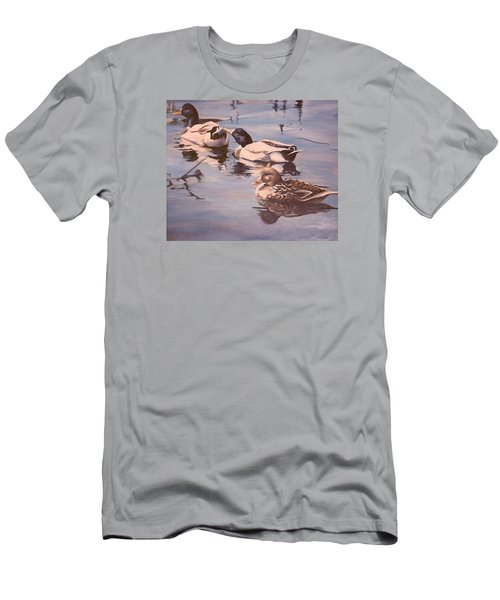 Ducks On The Cachuma Men's T-Shirt (Athletic Fit)