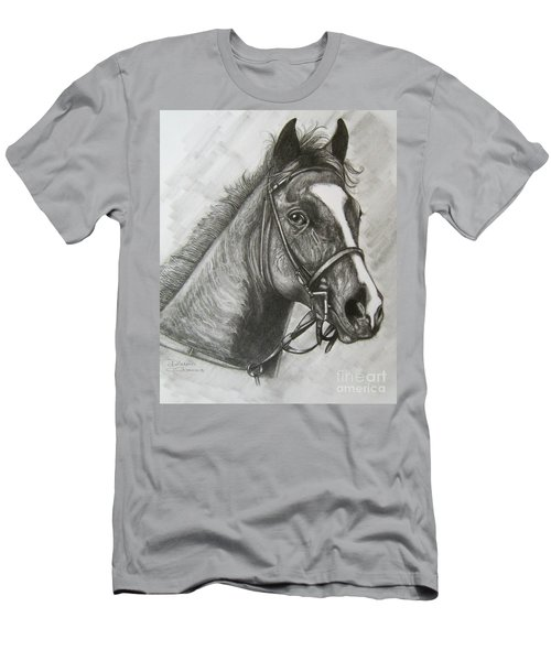 Men's T-Shirt (Slim Fit) featuring the drawing Dullahan by Patrice Torrillo