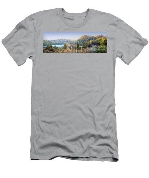 Dune Lake Panorama Saugatuck Mi Men's T-Shirt (Athletic Fit)