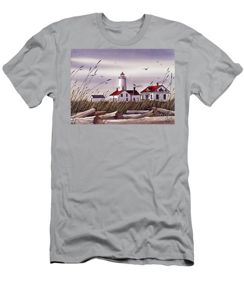 Dungeness Lighthouse Men's T-Shirt (Athletic Fit)