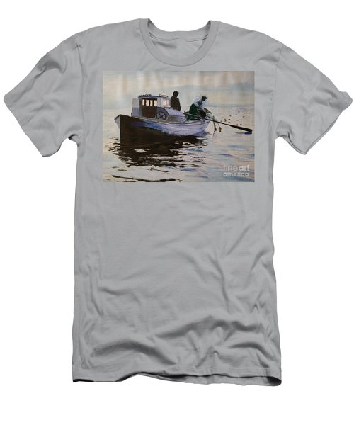 Early Gillnetter At Work Men's T-Shirt (Slim Fit) by Bill Hubbard