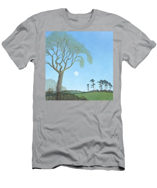 Early Moon, 2007 Oil On Canvas Men's T-Shirt (Athletic Fit)