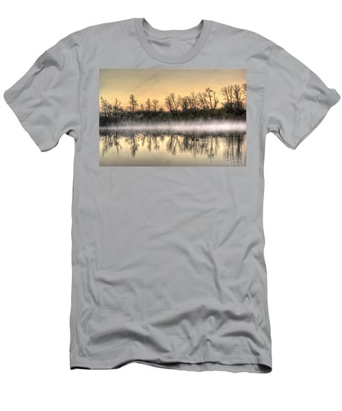 Men's T-Shirt (Slim Fit) featuring the photograph Early Morning Mist by Lynn Geoffroy