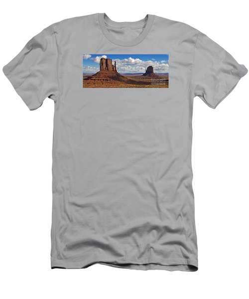 Men's T-Shirt (Slim Fit) featuring the photograph East And West Mittens by Jerry Fornarotto