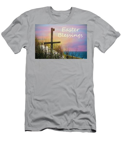 Easter Blessings Cross Men's T-Shirt (Athletic Fit)