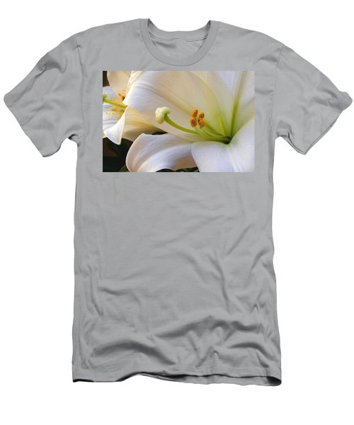 Men's T-Shirt (Slim Fit) featuring the photograph Easter Lily by Bonnie Willis