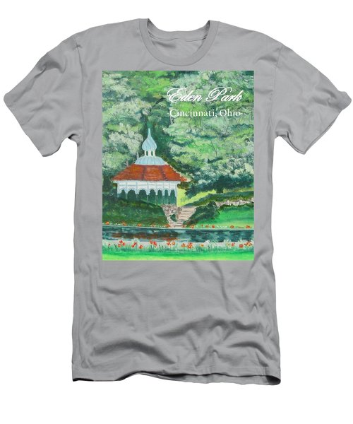 Men's T-Shirt (Slim Fit) featuring the painting Eden Park Gazebo  Cincinnati Ohio by Diane Pape