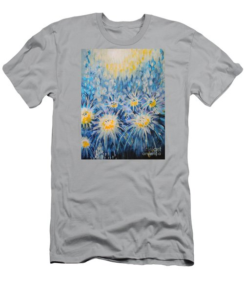 Men's T-Shirt (Slim Fit) featuring the painting Edentian Garden by Holly Carmichael