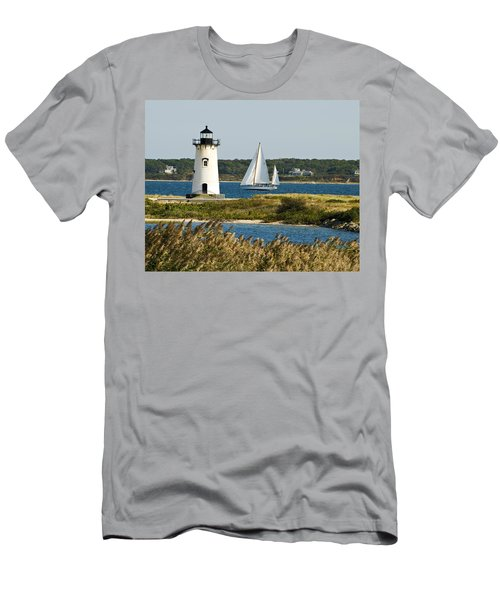 Edgartown Light At Martha's Vineyard Men's T-Shirt (Athletic Fit)
