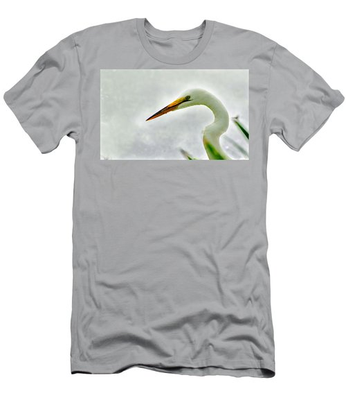Egret Close-up Men's T-Shirt (Athletic Fit)