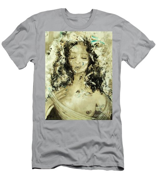 Men's T-Shirt (Athletic Fit) featuring the painting Egyptian Goddess by Laurie Lundquist