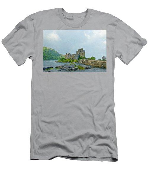 Eilean Donan Castle Textured 2 Men's T-Shirt (Athletic Fit)