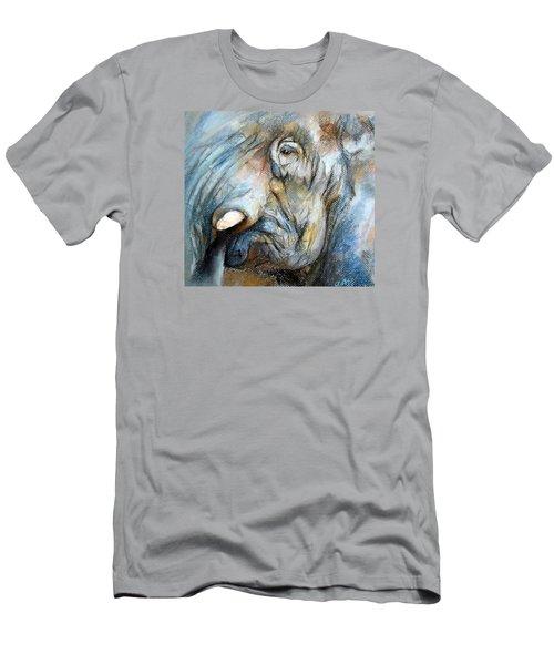 Elephant Eye Men's T-Shirt (Slim Fit) by Jieming Wang