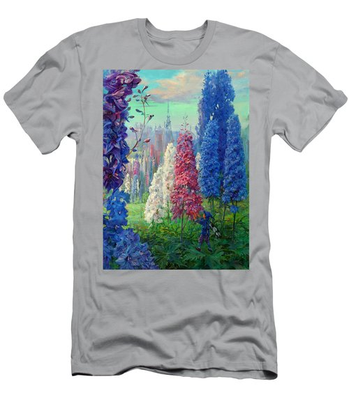 Elf And Fantastic Flowers Men's T-Shirt (Athletic Fit)