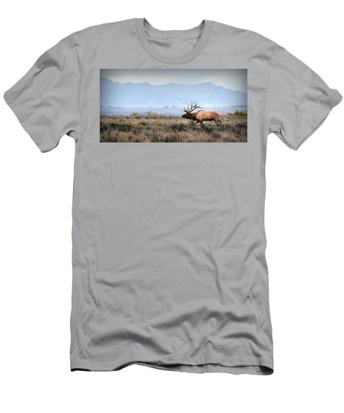 Elk Crossing Men's T-Shirt (Athletic Fit)