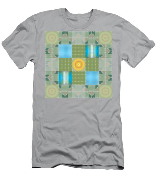 Ellipse Quilt 1 Men's T-Shirt (Slim Fit) by Kevin McLaughlin
