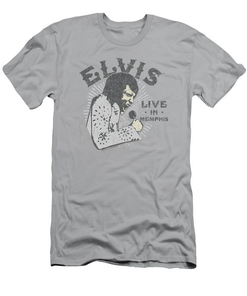 Elvis - Live In Memphis Men's T-Shirt (Athletic Fit)