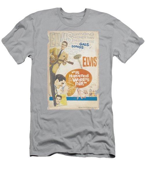 Elvis - World Fair Poster Men's T-Shirt (Athletic Fit)