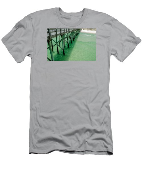 Men's T-Shirt (Slim Fit) featuring the photograph Emerald Green Tide  by Susan  McMenamin