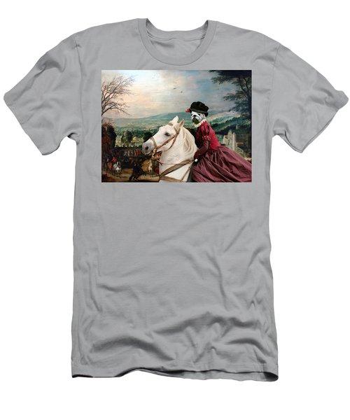 English Bulldog Art Canvas Print - Fete De Village Men's T-Shirt (Athletic Fit)