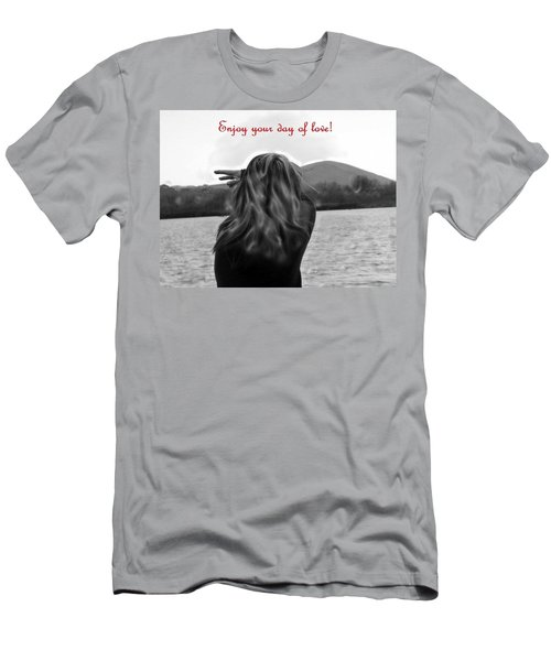 Men's T-Shirt (Slim Fit) featuring the photograph Enjoy Your Day Of Love by Lisa Kaiser
