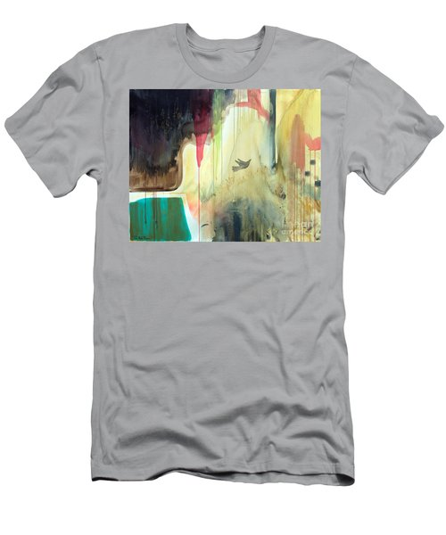 Men's T-Shirt (Slim Fit) featuring the painting Envisage by Robin Maria Pedrero