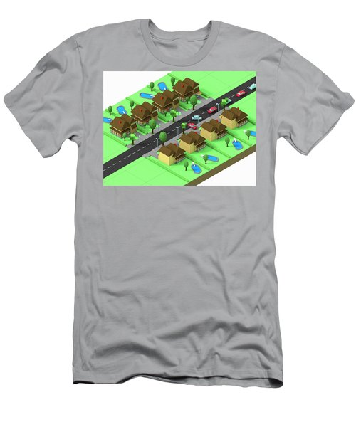 Escape Suburbia Men's T-Shirt (Athletic Fit)