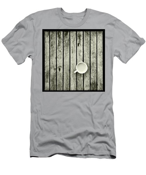 Espresso On A Wooden Table Men's T-Shirt (Athletic Fit)