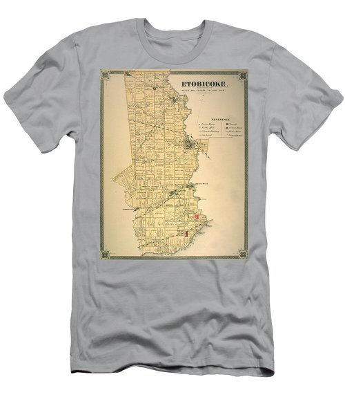 Etobicoke Map 1878 Men's T-Shirt (Athletic Fit)