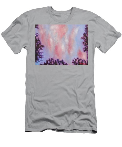 Men's T-Shirt (Slim Fit) featuring the painting Evening Clouds by Jason Williamson