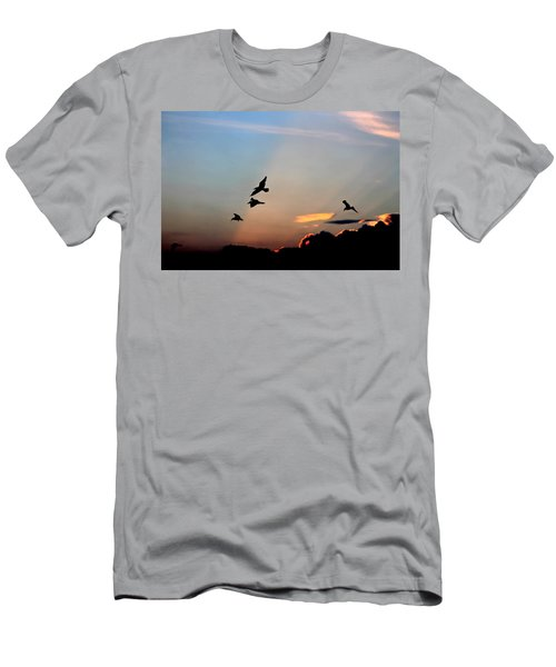 Men's T-Shirt (Slim Fit) featuring the photograph Evening Dance In The Sky by Bruce Patrick Smith
