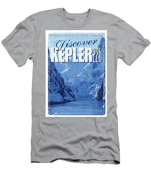 Exoplanet 02 Travel Poster Kepler 22b Men's T-Shirt (Athletic Fit)