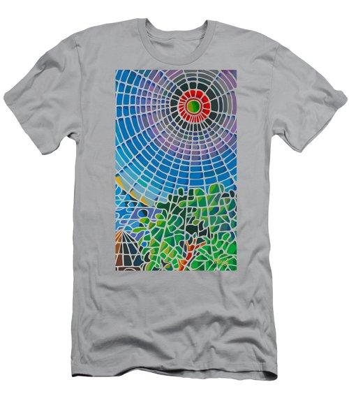Men's T-Shirt (Slim Fit) featuring the digital art Eye Of God by Anthony Mwangi