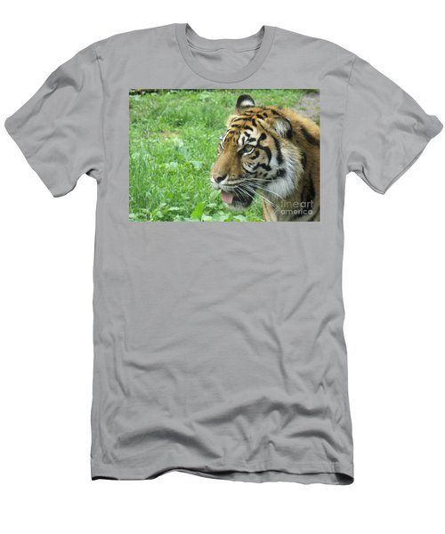 Men's T-Shirt (Slim Fit) featuring the photograph Eye Of The Tiger by Lingfai Leung