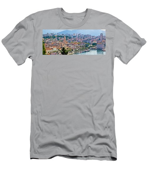 Fabulous Split Waterfront Aerial Panorama Men's T-Shirt (Athletic Fit)