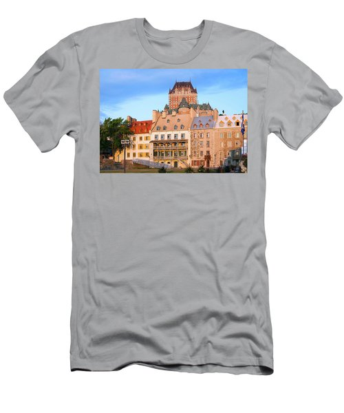 Facade Of Chateau Frontenac In Lower Men's T-Shirt (Athletic Fit)