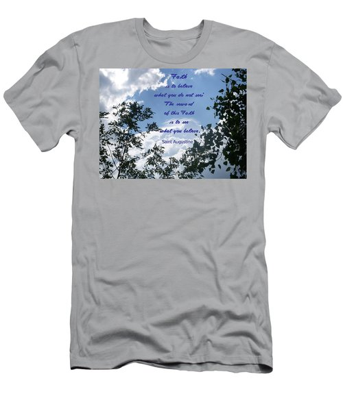 Men's T-Shirt (Slim Fit) featuring the photograph Faith by Aimee L Maher Photography and Art Visit ALMGallerydotcom