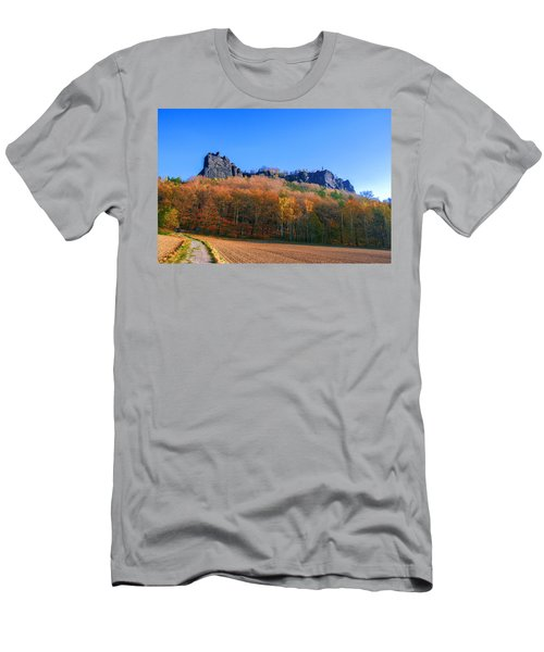 Fall Colors Around The Lilienstein Men's T-Shirt (Athletic Fit)