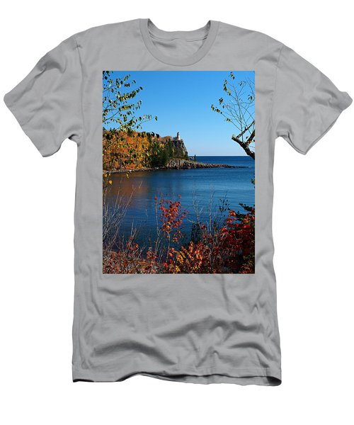 Men's T-Shirt (Athletic Fit) featuring the photograph Fall For Split Rock Lighthouse by James Peterson