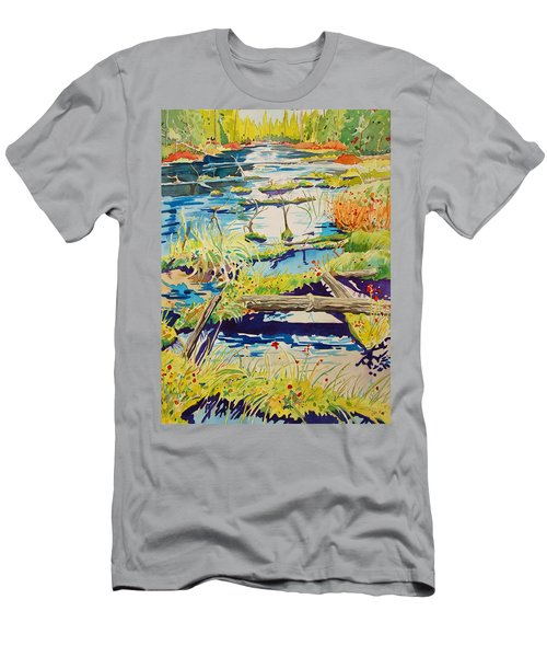 Fall River Scene Men's T-Shirt (Athletic Fit)