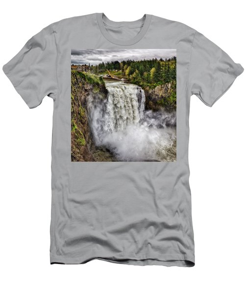 Falls In Love Men's T-Shirt (Slim Fit) by James Heckt