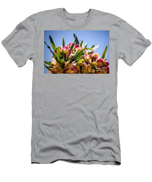 Fanned Flowers Men's T-Shirt (Athletic Fit)