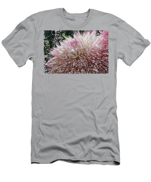 Men's T-Shirt (Slim Fit) featuring the photograph Fantasy Dahlia by Denyse Duhaime